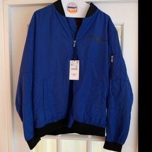 the Rolling Stones Jackets & Coats - Rolling Stones Zara Blue Bomber Jacket Sz XXL NWT